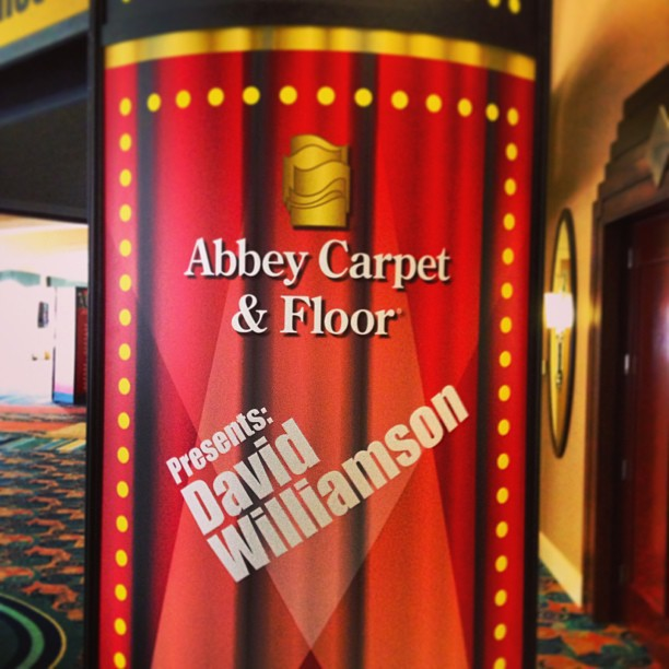 Thanks to the wonderful folks at Abbey Carpet Co. for a fun evening!