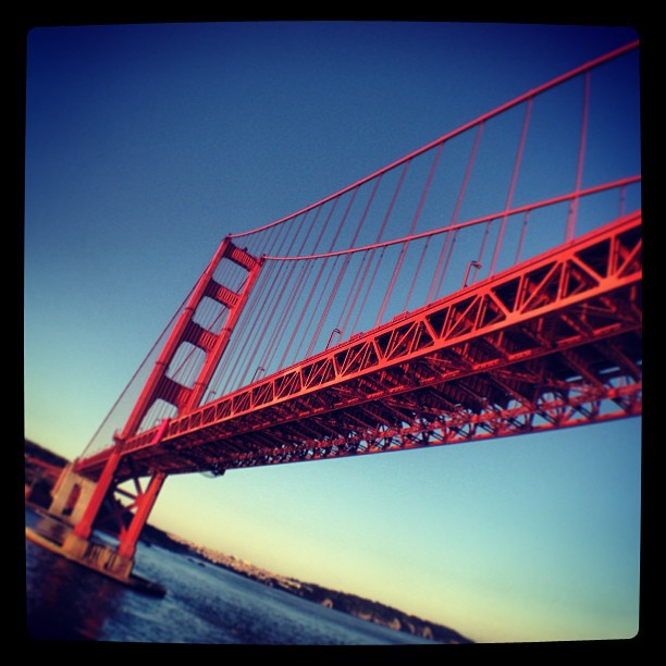 Under the Golden Gate Bridge. Entering San Fran. (at Golden Gate Bridge)