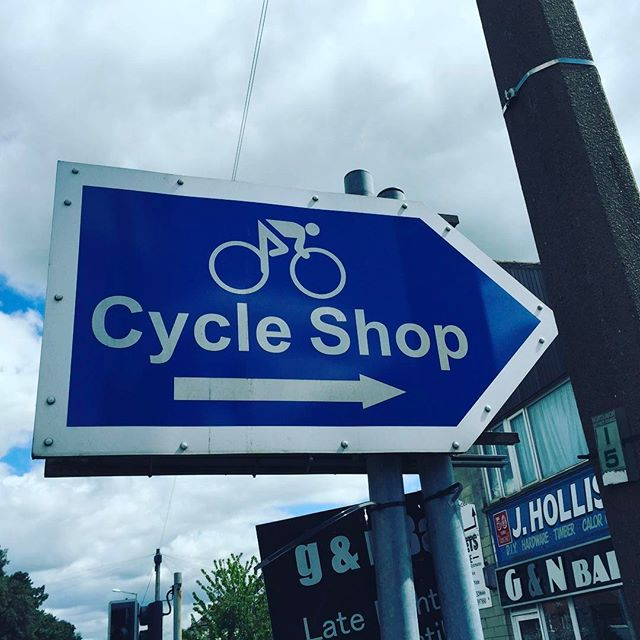 When your in Yate here's a great sign to follow :) #bikeshop  #bicycleriding  #bikeservice  #bianchibicycles