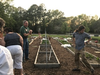 Rich Woynicz (L) taught the spring  Seed to Supper  garden education program, hosted onsite at Alliance Medical Ministry.