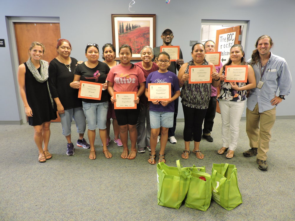 Our summer Cooking Matters participants received their certificate of completion.
