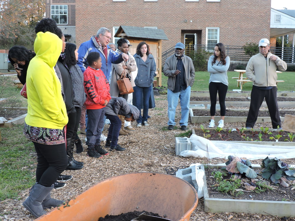 Teacher and Master Gardener  Rich Woynicz  taught Seed to Supper students about soil quality, rotation, and natural pesticides.