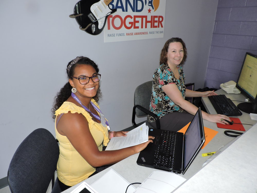 Hasana Wooding, MPH Candidate, and Meaghan Henry, LCSW candidate, have worked this summer to draft the social screening questionnaire and help implement roll-out.