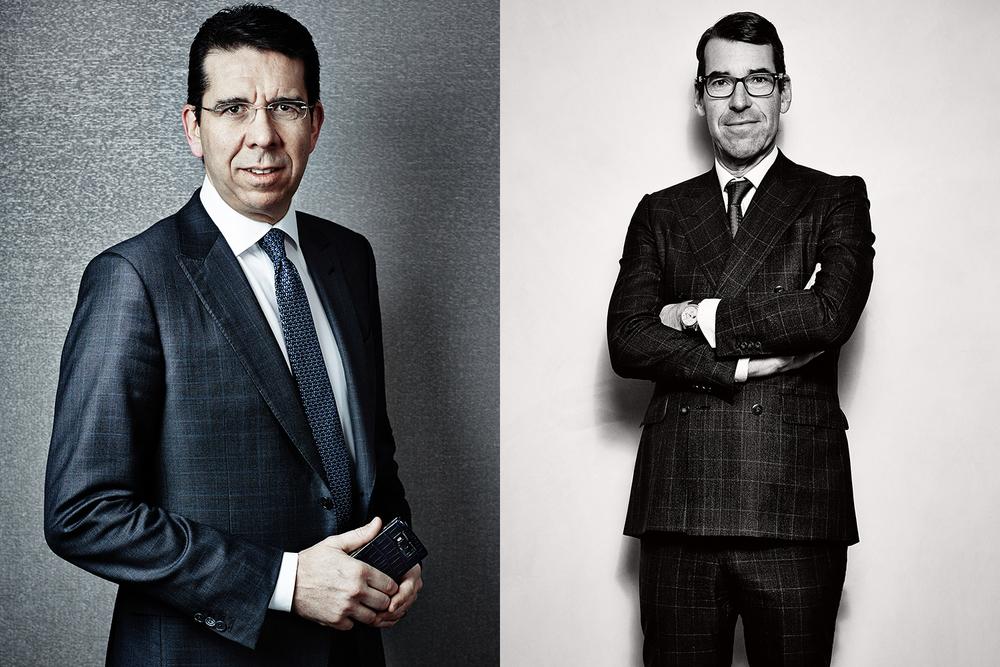 Massimiliano Pogliani (CEO Vertu) for Vertu _||_ Christian Selmoni (Vacheron Constantin art-director) for Esquire