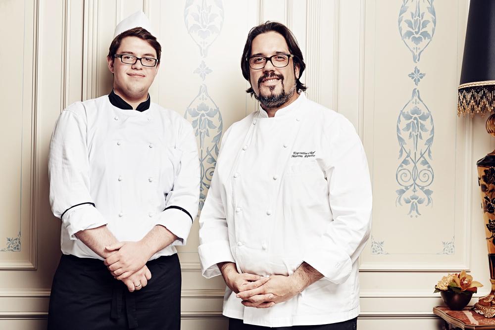 Tikhon Grebennikov (confiseur chef) & Michael Repetto (executive chef) for Radisson Royal Moscow