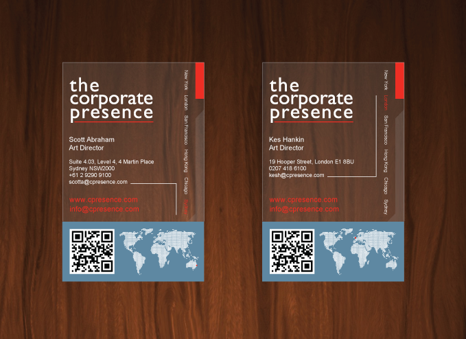 The corporate presence one23design tcp plastic business cards concept 1 reheart Image collections