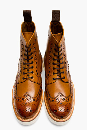 Grenson Tan Leather Boots