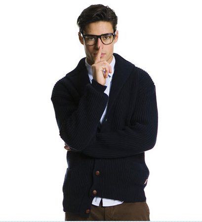 True nerd chic style.
