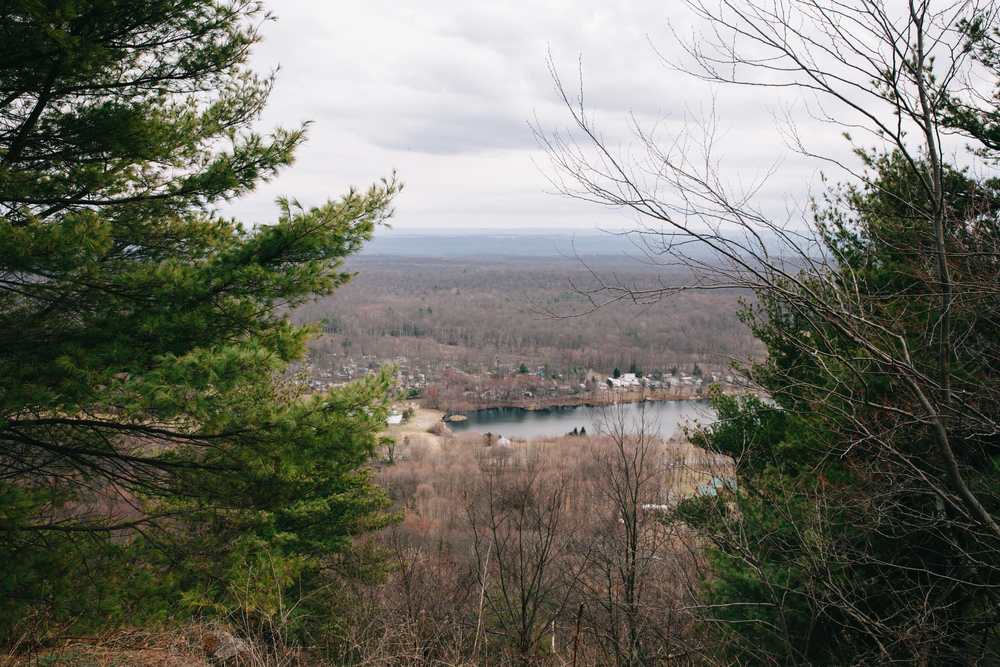 An overlook close to the Appalachian Trail, New Jersey.