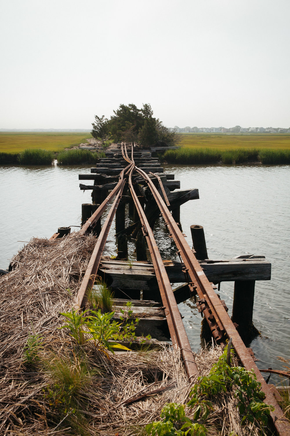 A view from the old Baltimore & Eastern rail line going into Ocean City, New Jersey.