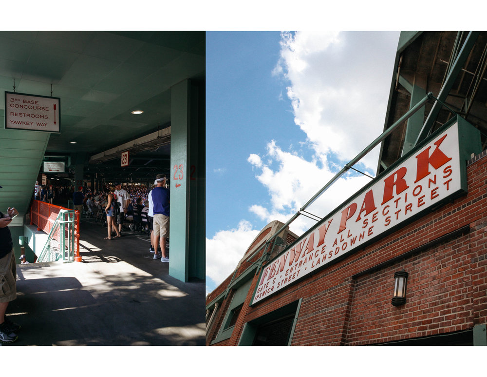 The iconic Fenway Park, Lansdowne street entrance in the heart of Boston, Massachusetts.