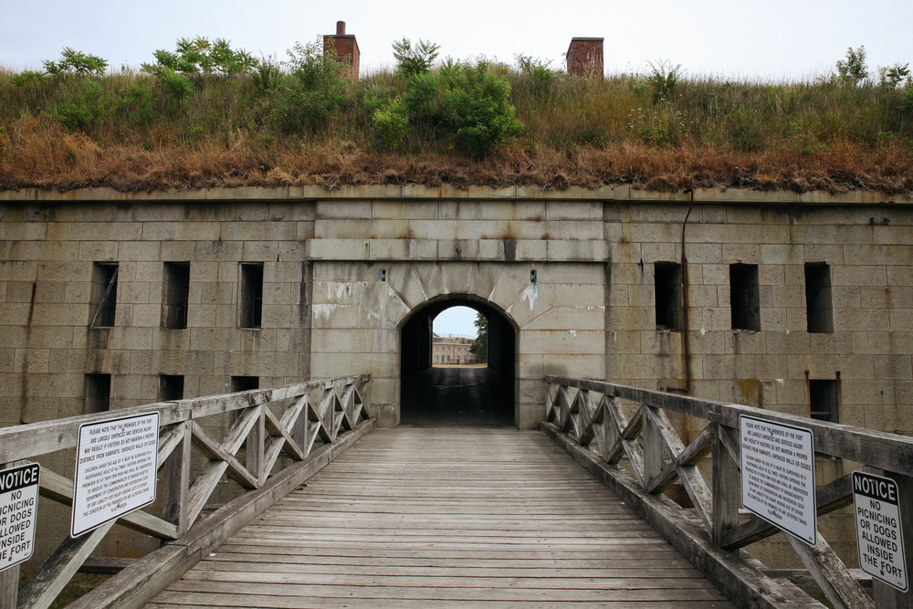 A unique Civil War era fort on Georges Island in the Boston Harbor Island National Park.