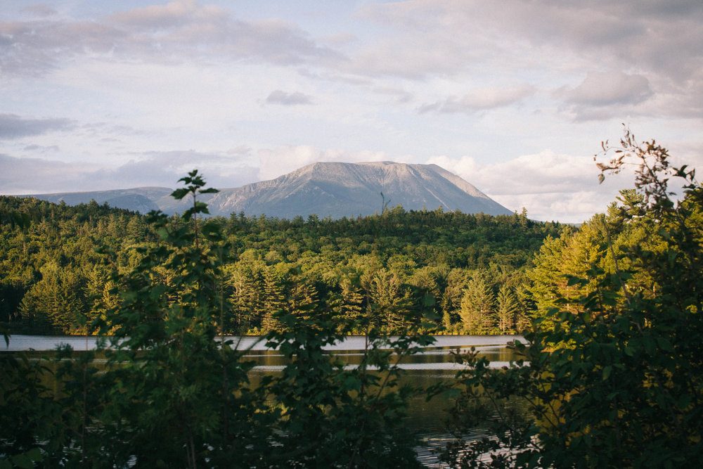Passing through Baxter State Park along the Golden Road in northern Maine.