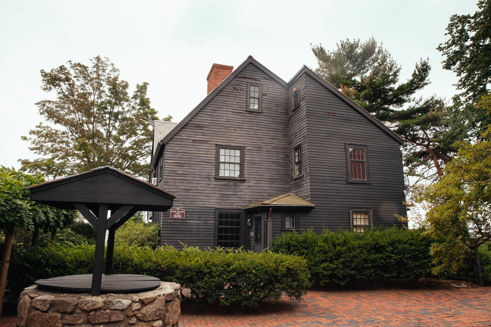 One of the houses on the House of the Seven Gables property in Salem.