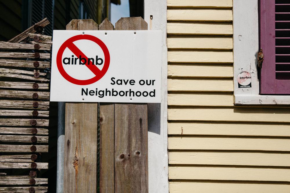 Not everyone in Bywater is on board with airbnb.