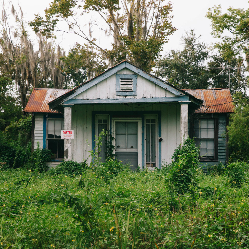 An abandoned house in the bayou in Louisiana.
