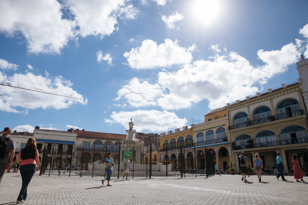 The Plaza Vieja, or Old Square, in Old Havana, Cuba emerged in 1559.