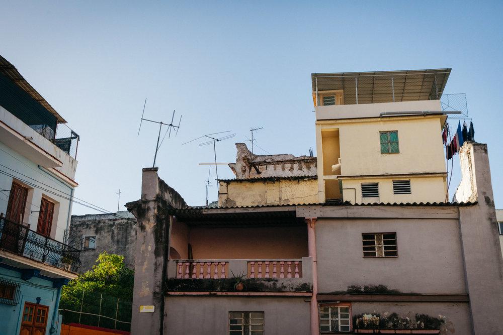 Casas in Havana, Cuba.