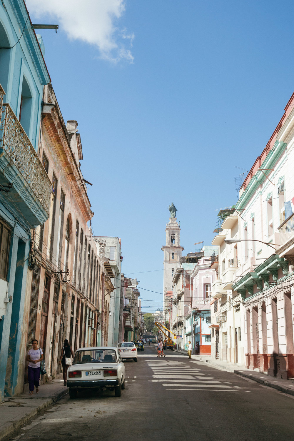 We stayed at a much cheaper apartment west of Habana Vieja, but still centrally located.
