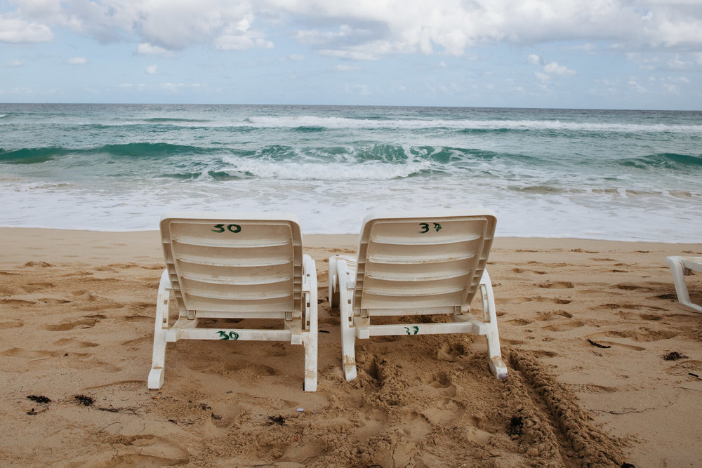 We rented beach chairs from a woman who seemed to have a thriving beach equipment rental and food/drink delivery hustle.