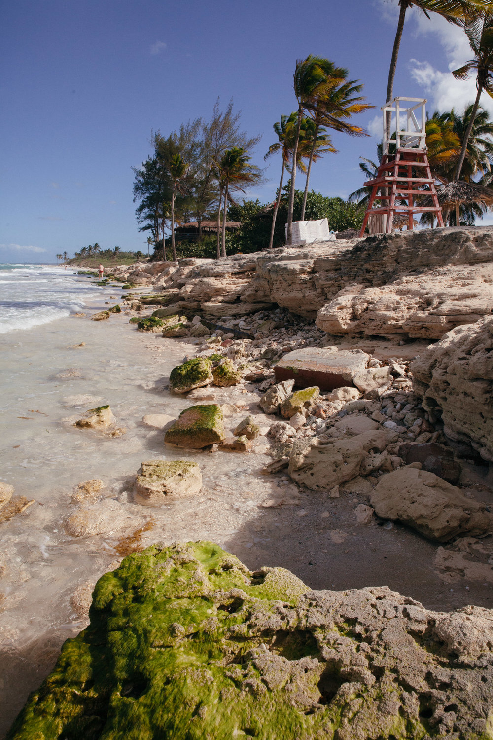 A deteriorating beach and seaside resort, outside of Havana in Cuba.