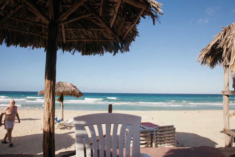 A beachfront restaurant serves up great views of the local Cuban beaches and some good food too.