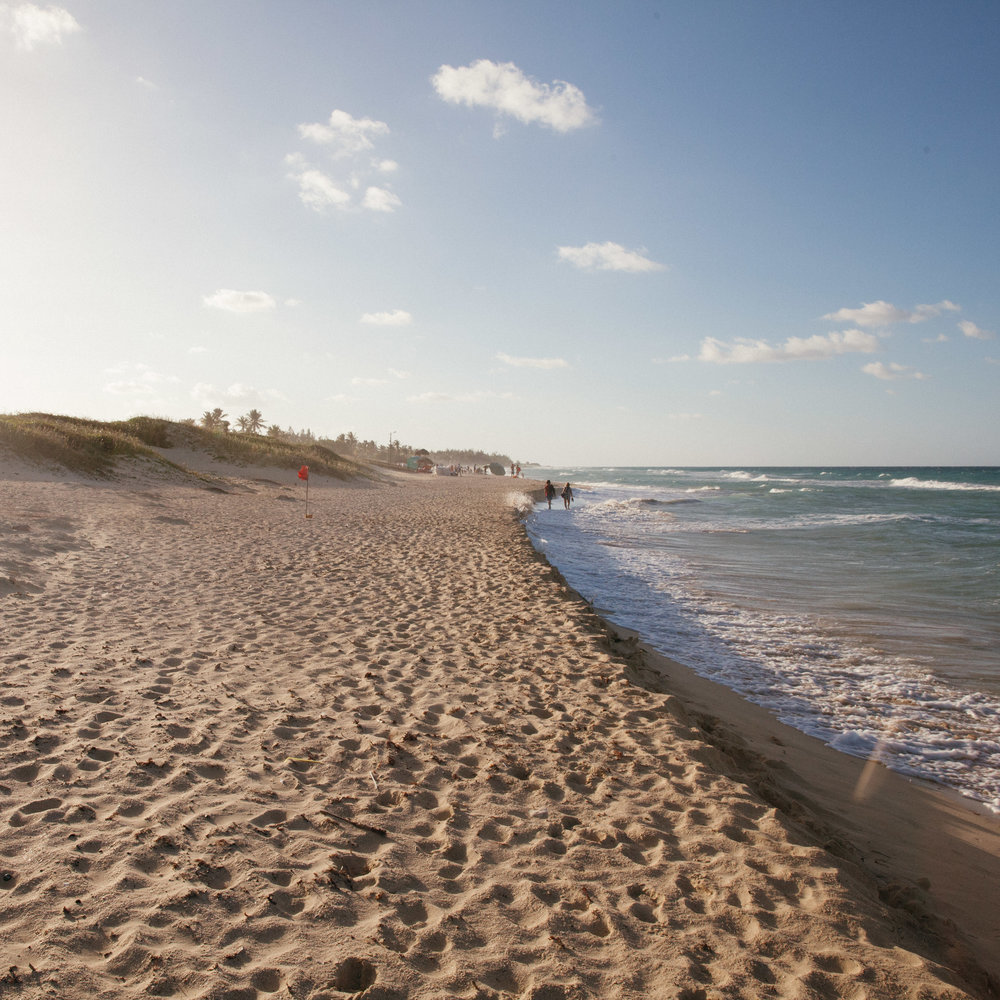Deserted beaches outside of Havana, Cuba.