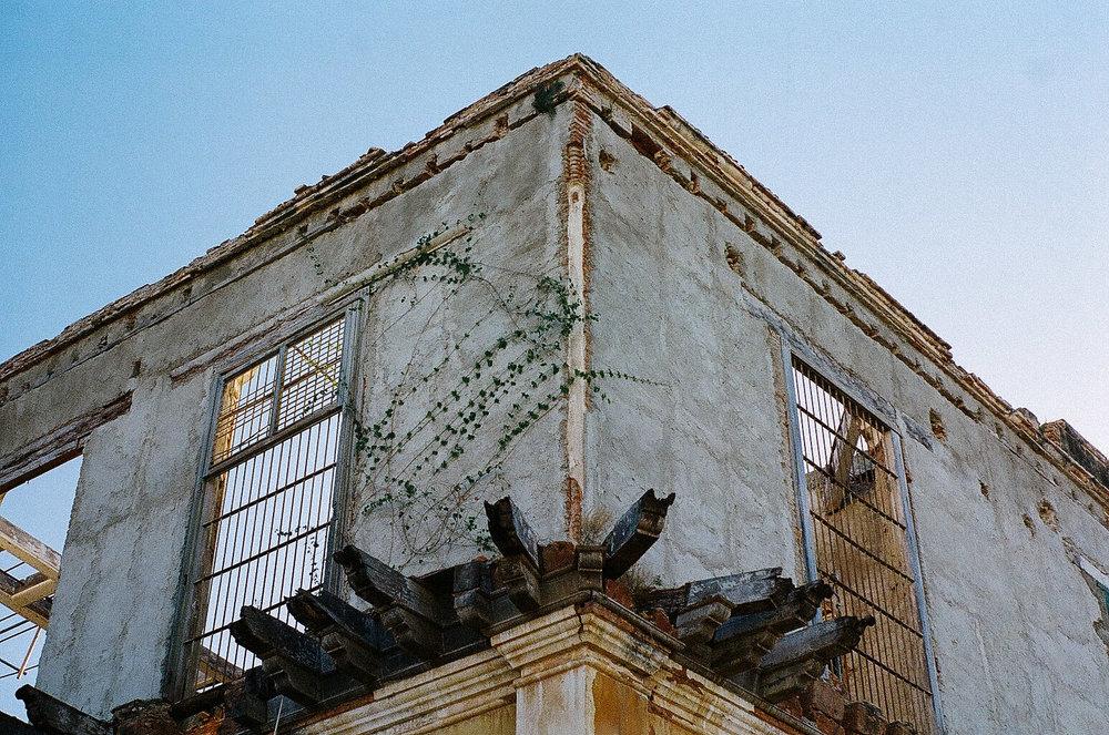 Gutted old building in Havana, Cuba.