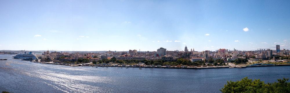 Panoramic view of Old Havana, Cuba.