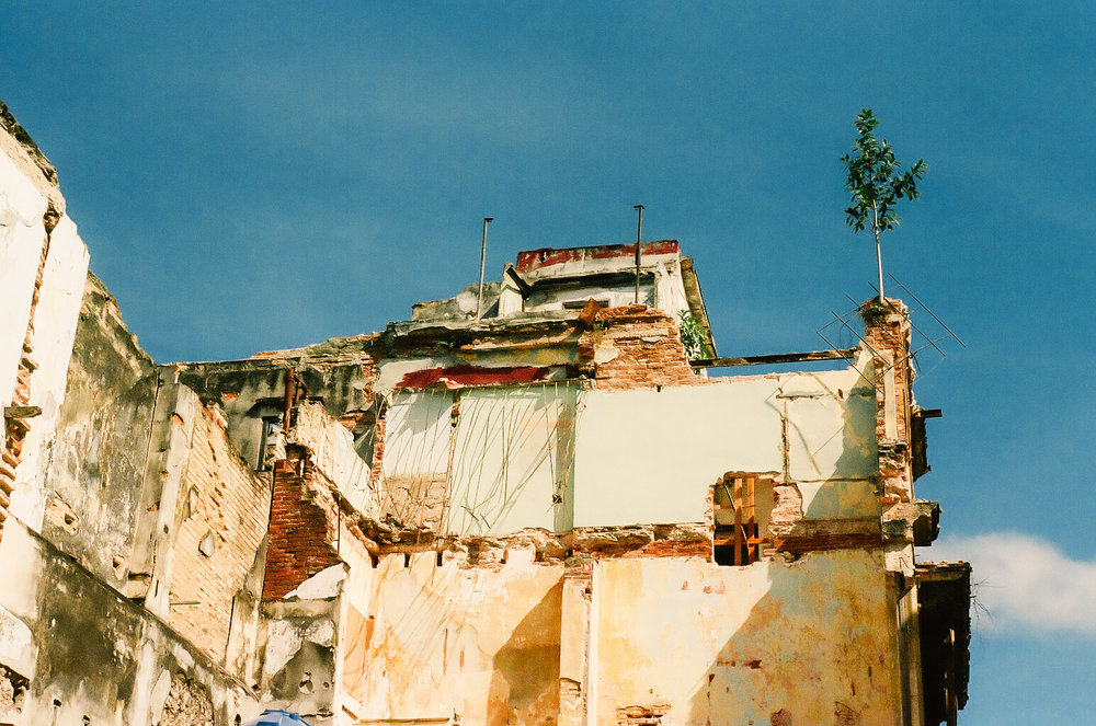 A gutted, torn down house in Old Havana, Cuba.