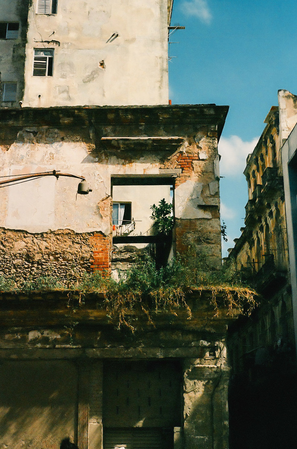 Gutted old building in Havana, Cuba, taken with 35mm camera film.