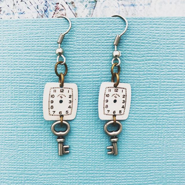 Excited to share the latest addition to my #etsy shop: One of a Kind Watch Part + Key Earrings!  https://etsy.me/2jsEp3u