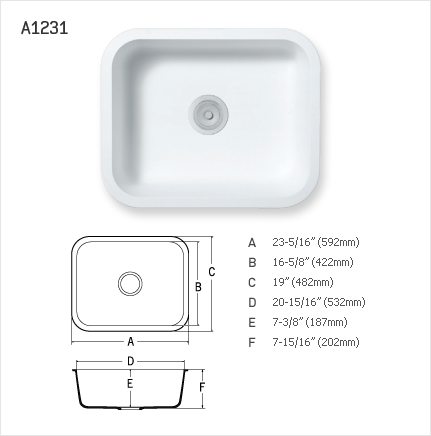 STARON SINGLE SINK : A1231