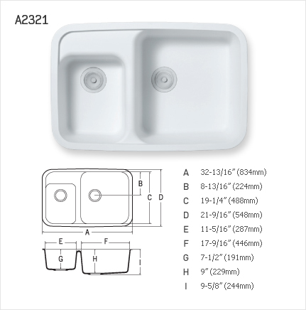 STARON DOUBLE UNEVEN KITCHEN SINK : A2321
