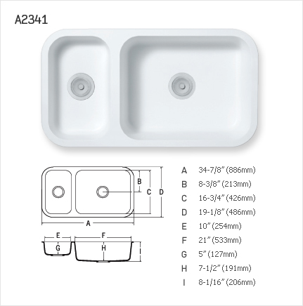 STARON DOUBLE UNEVEN KITCHEN SINK : A2341