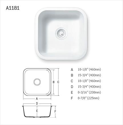STARON SINGLE SINK : A1181