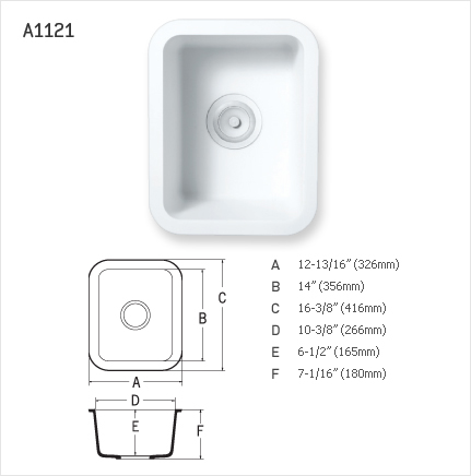 STARON SINGLE SINK : A1121