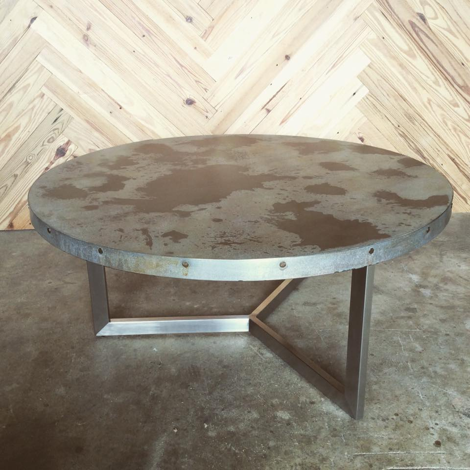 Round Steel Table by Constructed Matter