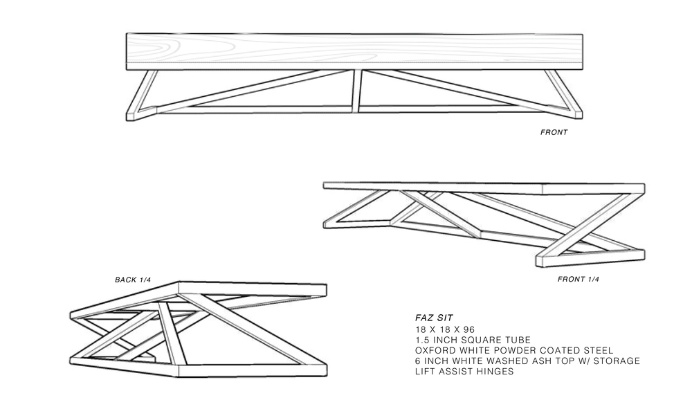 Bench - Proposed Design by Constructed Matter, Inc.