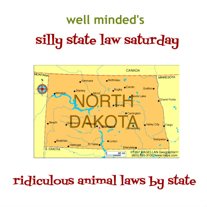 silly state law saturday: north dakota. state image source: infoplease.com