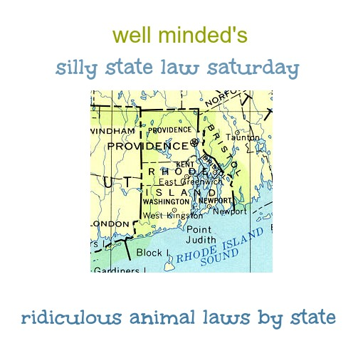 well minded's silly state law saturday–Rhode Island. Map image source: lib.utexas.edu