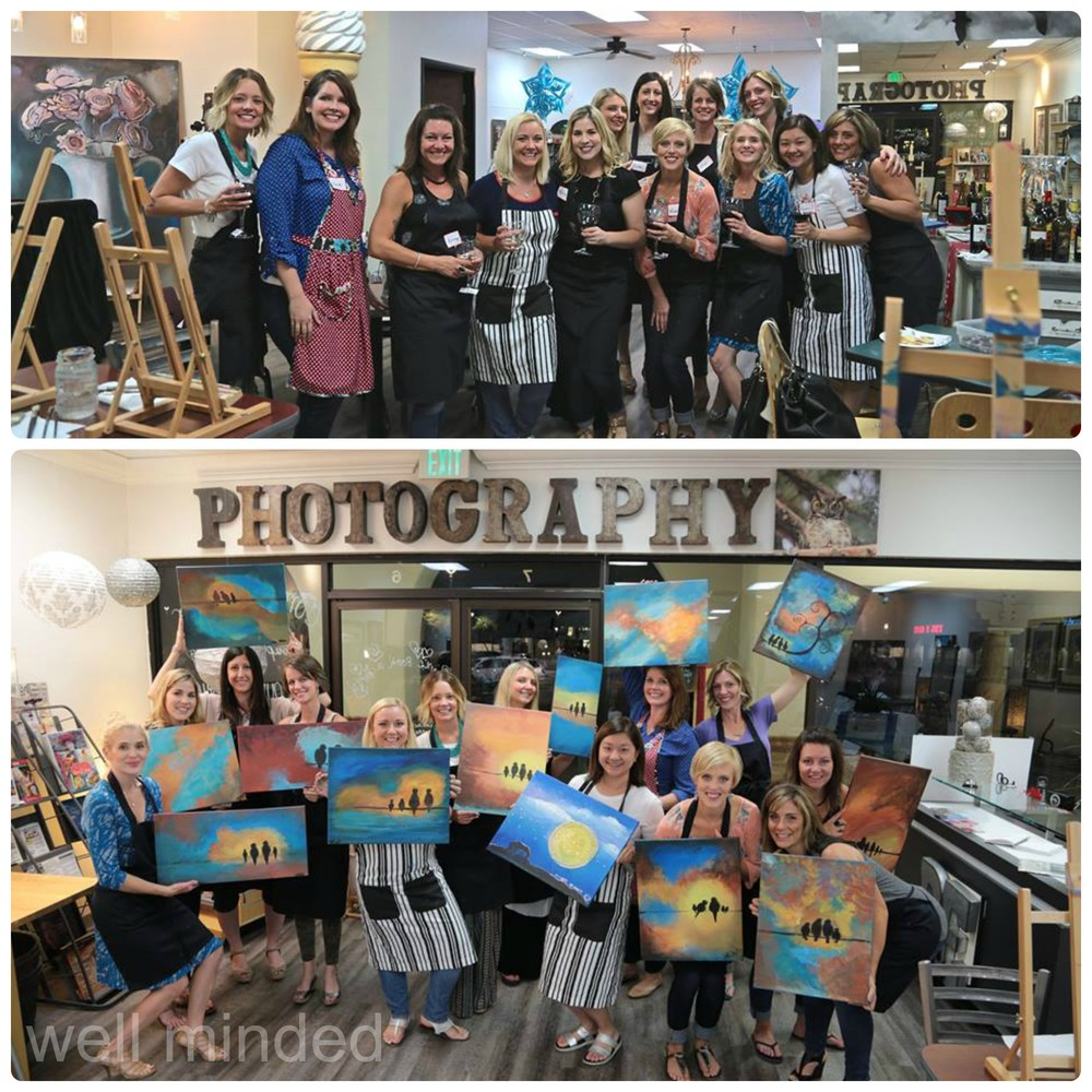 Our MOMS Club had an awesome time at Be...An Artist. photos courtesy of Sandra Marshall, Be...An Artist.