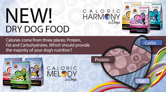 Weruva's New Caloric Harmony and Caloric Melody are about balanced nutrition for your dog. Image source: weruva.com