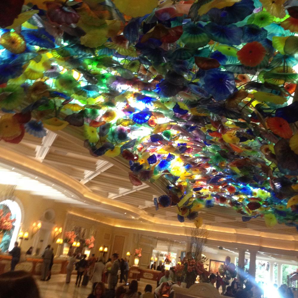 The lobby of the Bellagio, Las Vegas