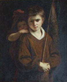 """BOY WITH CABBAGE NETS"" by Joshua Reynolds"