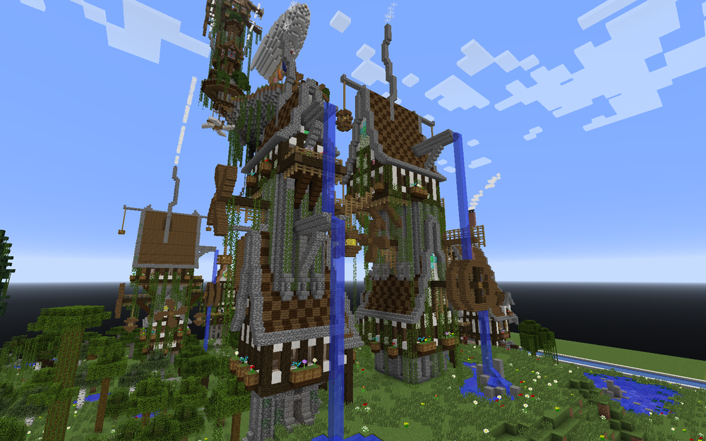 Two Steampunk Tower Houses Built by Mort1984.