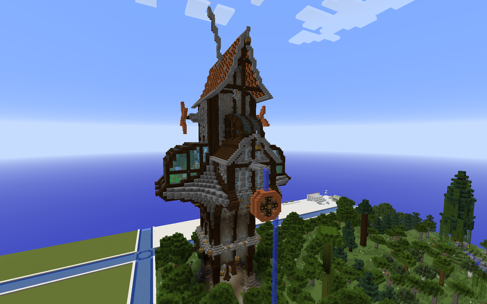 Final Exterior of the Tower House by Polygon_Wizard