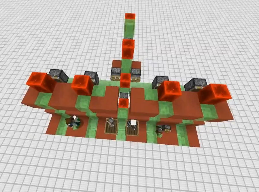 A flying machine using sticky slime blocks, invented by the ZipKrowd.