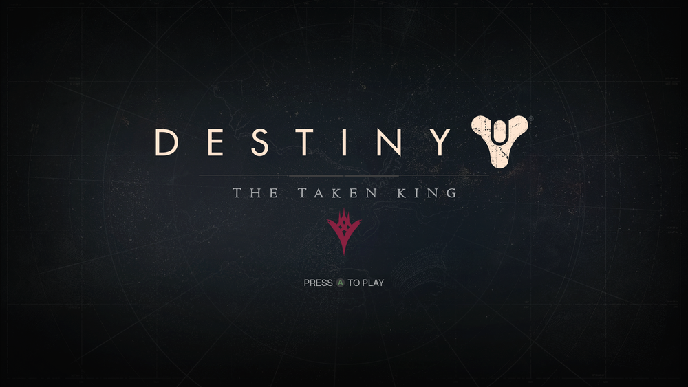 XBox One's Title Screen for Destiny: The Taken King