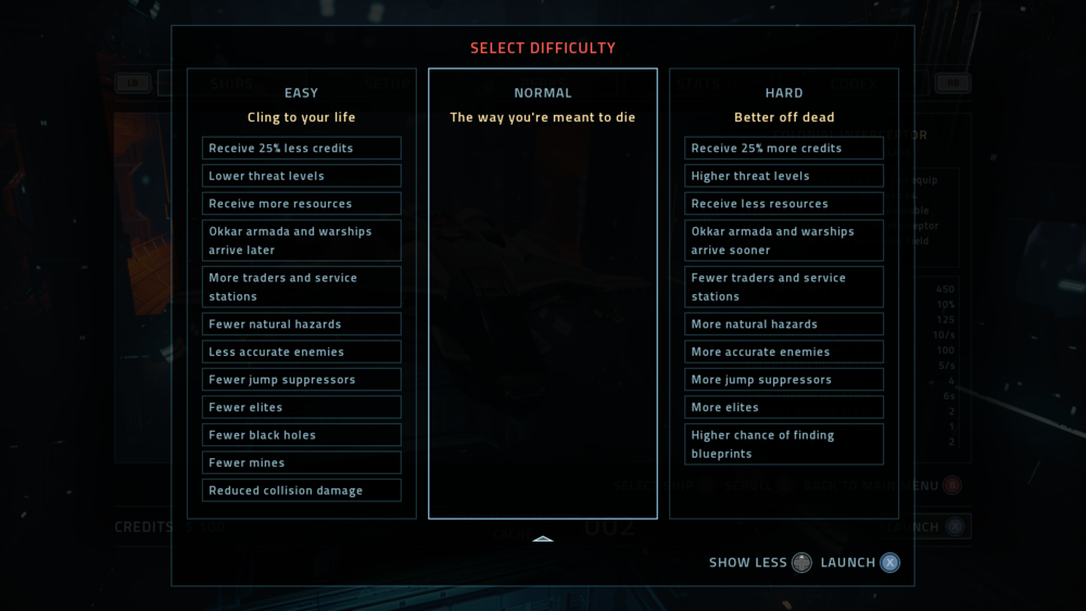 Difficulty Settings, Expanded